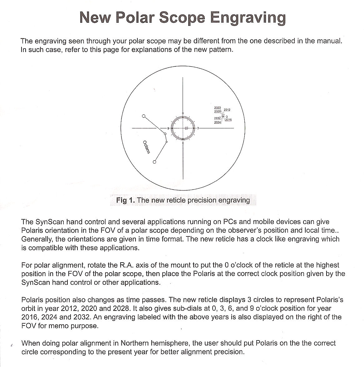 HEQ5 Pro polar alignment with SynScan - Beginner Area - East