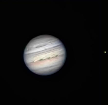 """Jupiter through Steve's 8"""" SCT"""