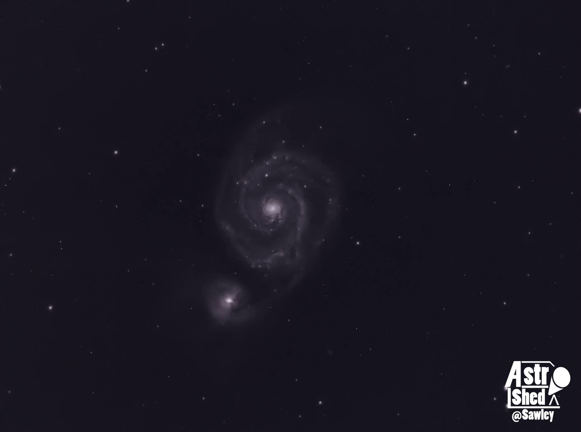 M51 - Taken from T18 iTelescope.Net in Spain