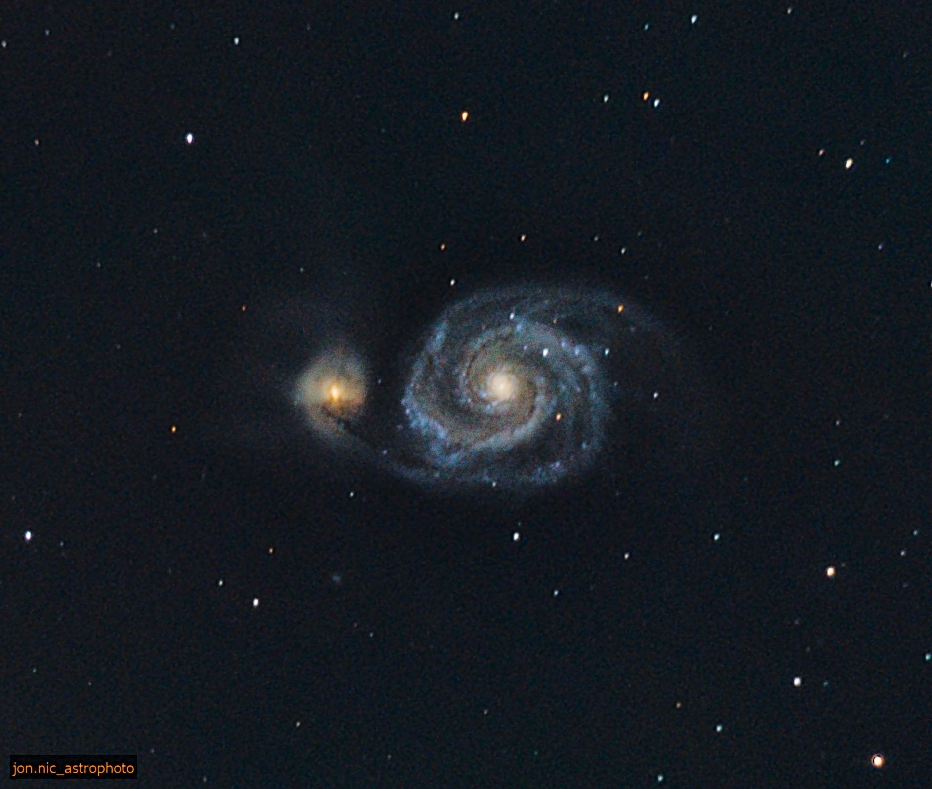 JPEG for print zoom in deconv m51 Whirlpool galaxy 3h27m 249frames 50secs.jpg